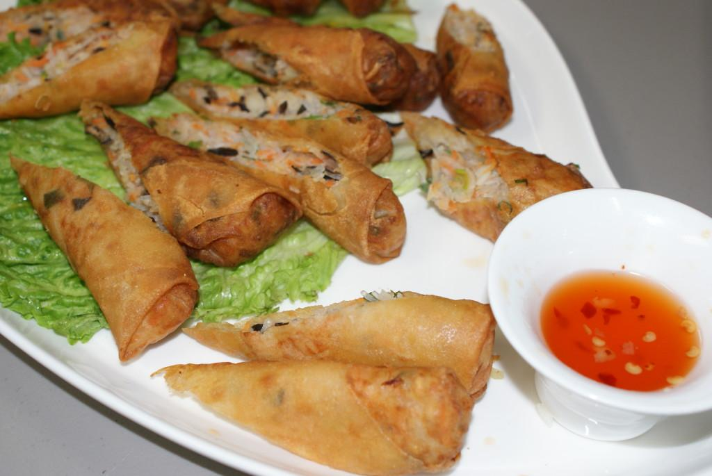 Spring rolls prepared by chef Duc Tang.