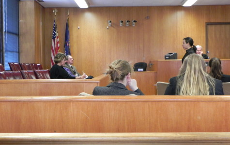 CHS Mock Trial Team Practices at Washtenaw County Courthouse