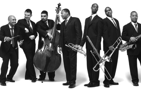 The fifteen members of the Jazz at Lincoln Center Orchestra