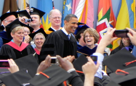 President Obama received an honorary Doctor Degree of Laws from the University.