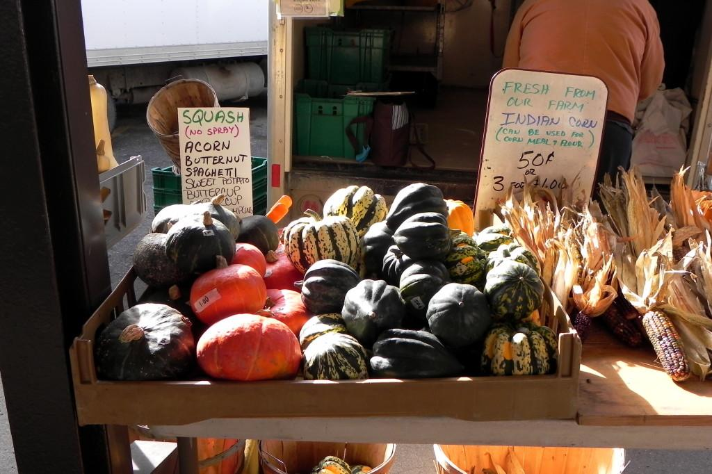 Acorn+squash%2C+a+popular+fall+vegetable%2C+displayed+at+the+J+and+T+Todosciuk+Farms+stall+at+the+Ann+Arbor+Farmers+Market.