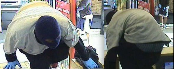 The Ann Arbor Police released a surveillance photo of the two gunman who robbed the Bank of America on Packard and Eisenhower. The gunman are still being searched for.