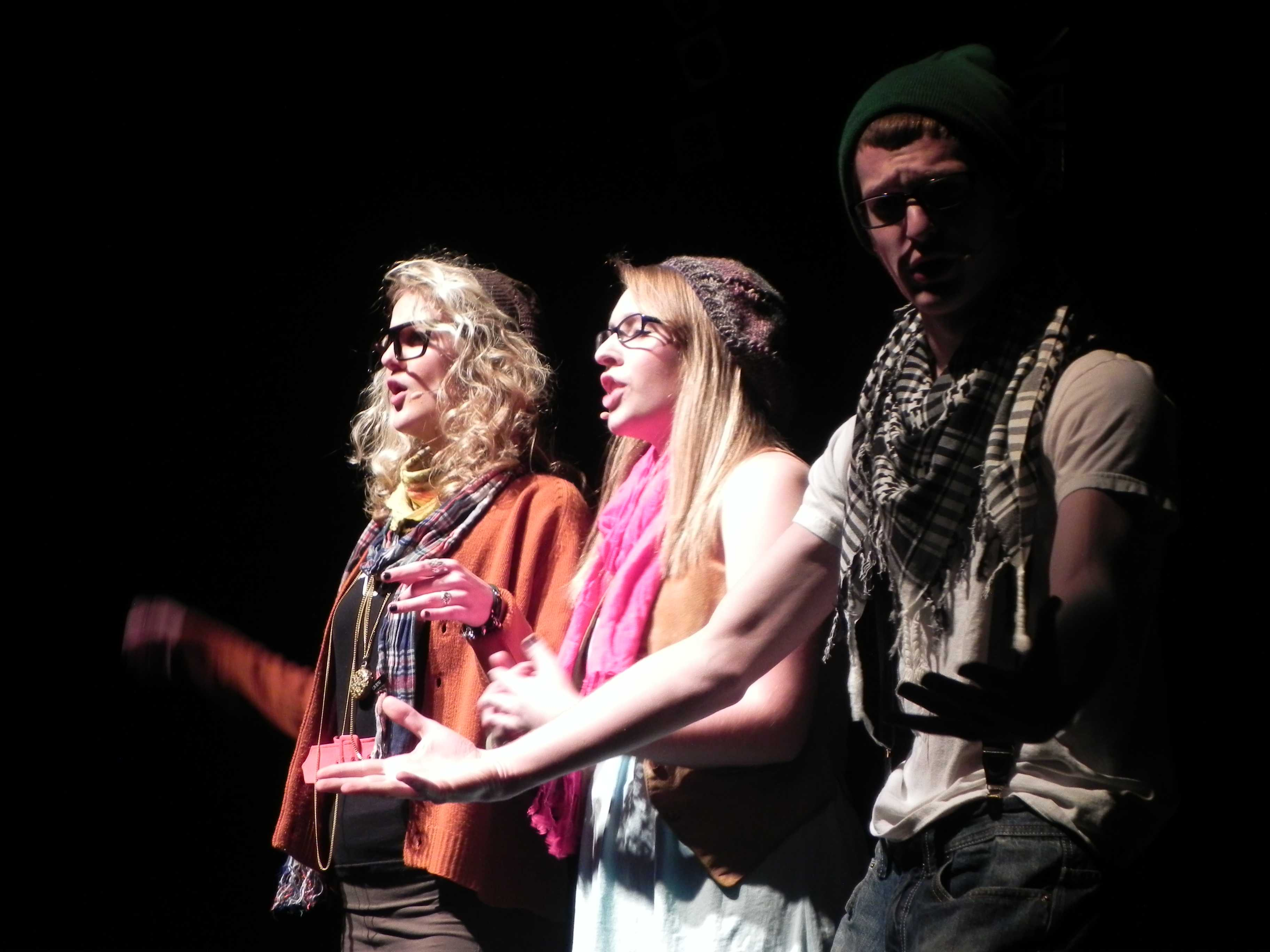 Julia Rampton, Claire Shorin and Corey Garff hosted all five shows of Future Stars 2011.