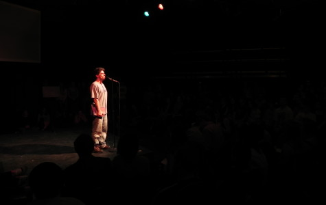 Jeff Kass emcees the 2011 Community High School Poetry Slam.