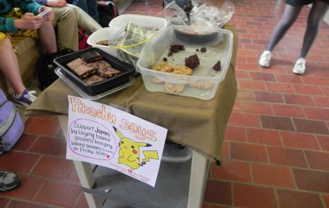 Students at CHS held a bake sale to raise money and awareness for the crisis in Japan.