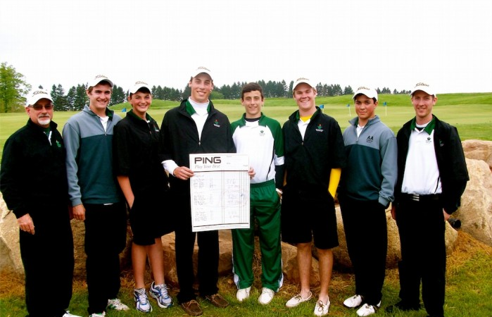 Huron Boys Golf has won the SEC two years in a row.