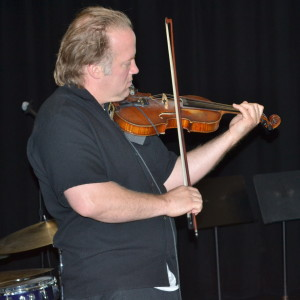 Christian Howes preforms Jazz violin for CHS Jazz Clinic o