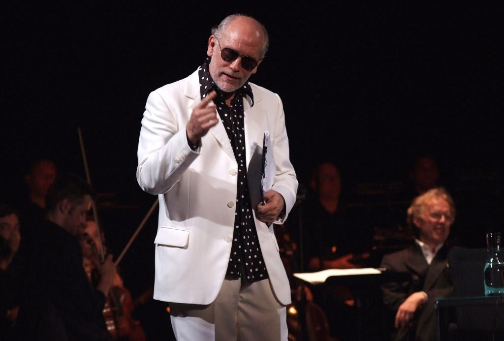 John Malkovich performing