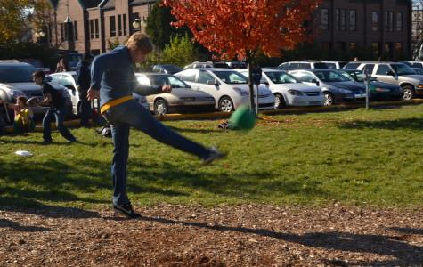 On Day Two of Spirit Week, CHS students play Kickball at Lunch