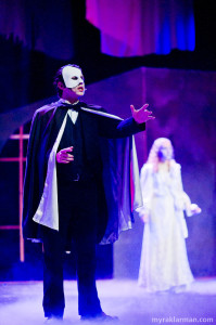 Community Junior Hank Miller played the role of the Phantom in the musical.