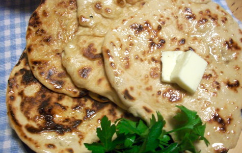 Try this buttery, crunchy, bubbly naan.