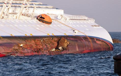 Costa Concordia, Sinking into the Mediterranean Sea
