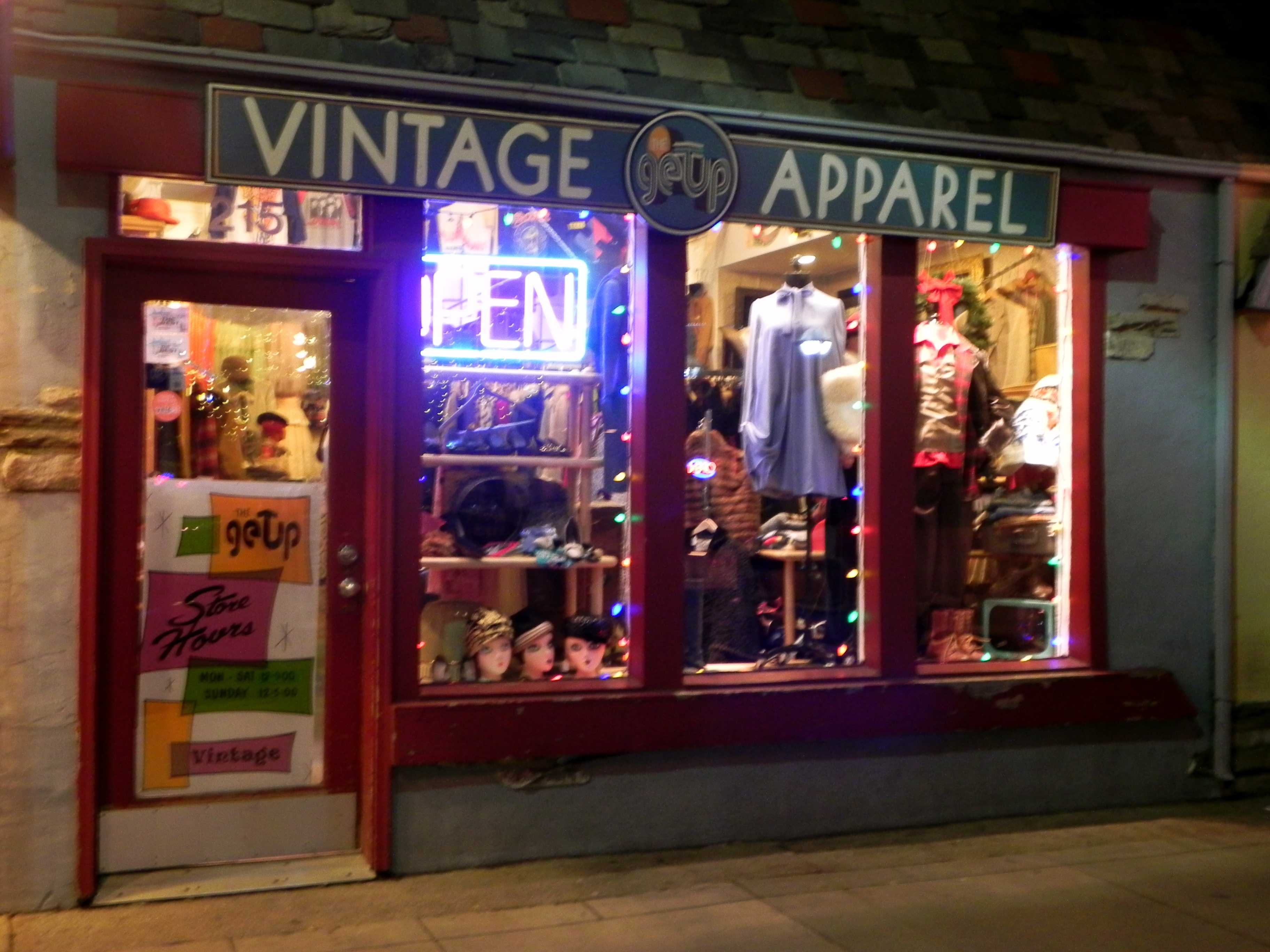 Kelly McLeod co-owns The Getup, a vintage apparel shop on State Street.