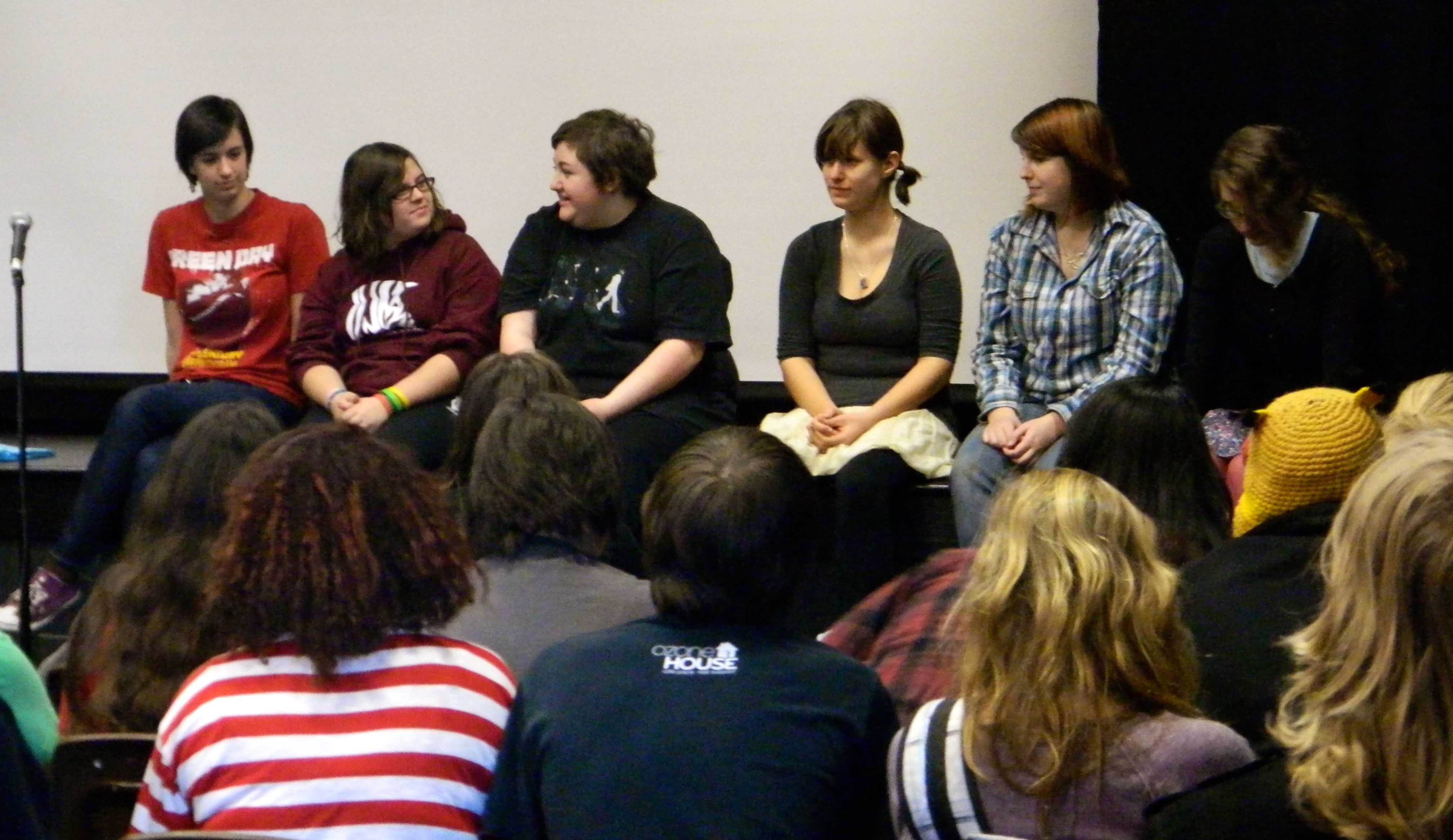 CET board members introduce themselves to prospective actors and crew.