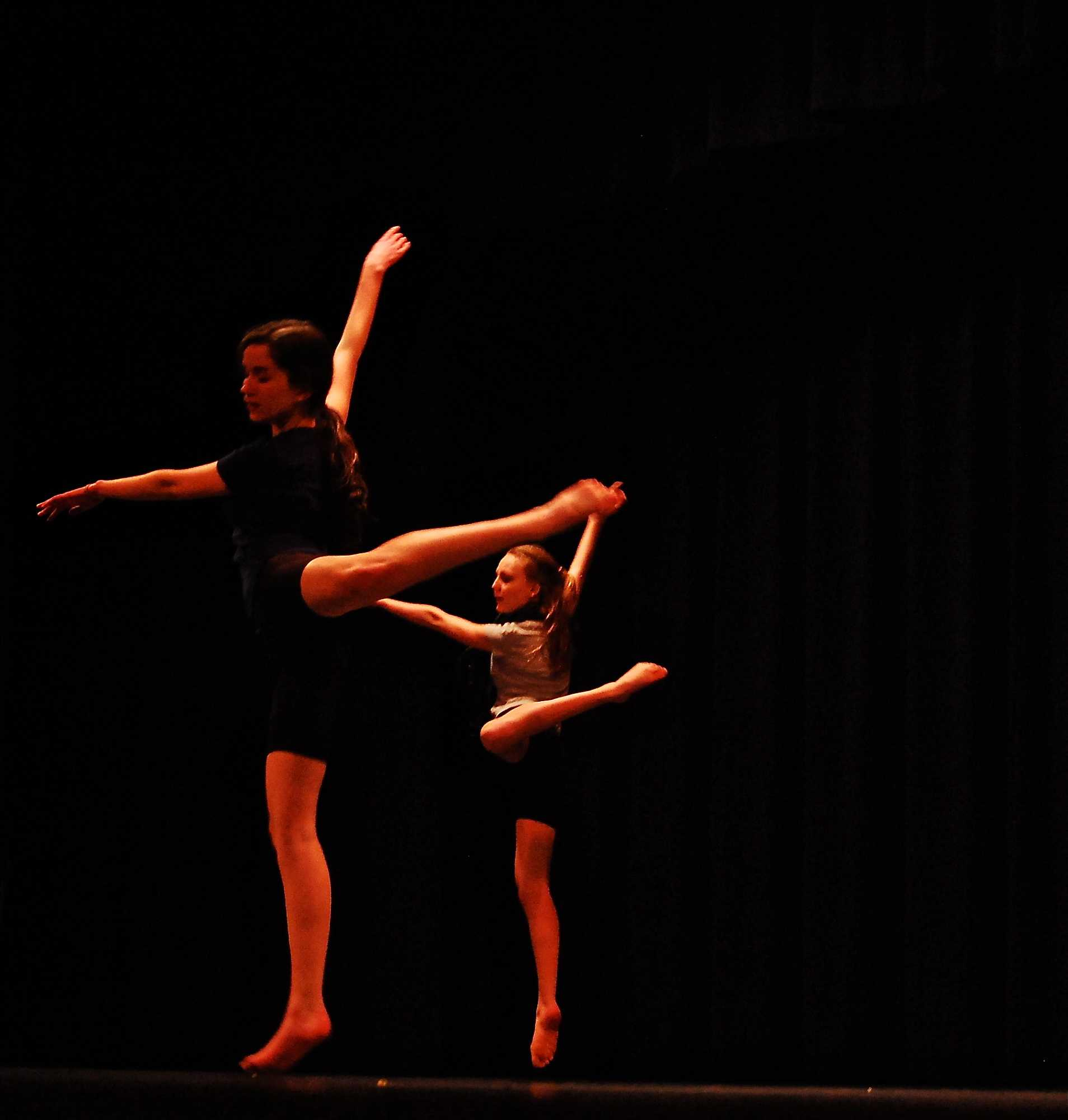 Dancer's take the stage to block and rehearse.
