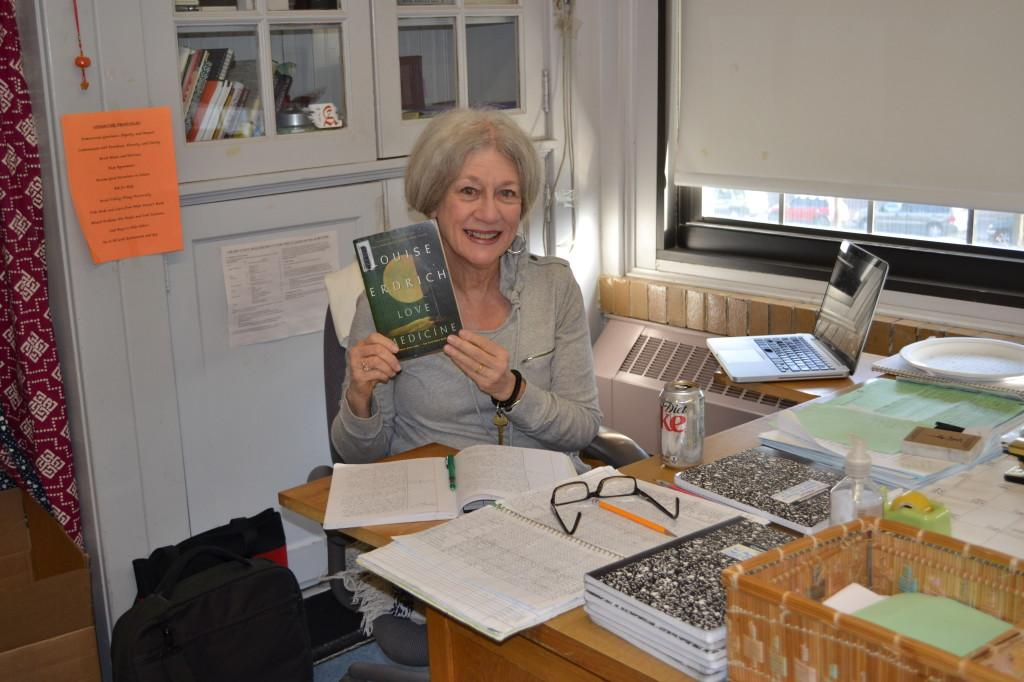Judith DeWoskin with the book