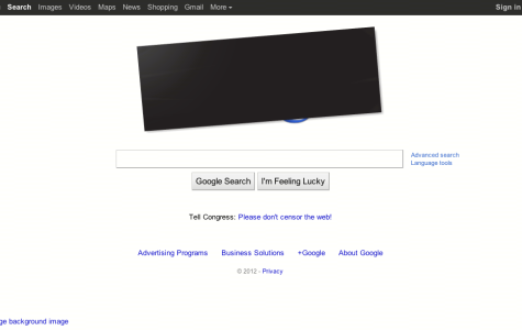 Google did not black out its entire website but they changed their homepage in protest.