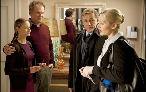 From left to right: Jodi Foster, John C. Reilly, Christoph Waltz and Kate Winslet in Roman Polanski's new film