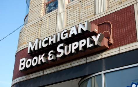 Michigan Book and Supply was crowded with patrons taking advantage of sale prices.