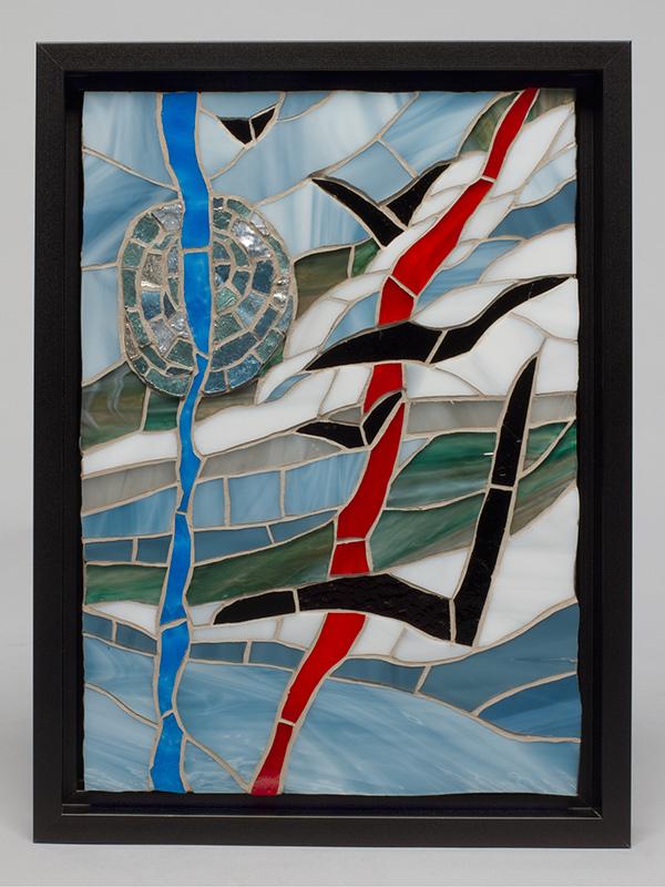 Kucheras abstract Manic Sky piece.