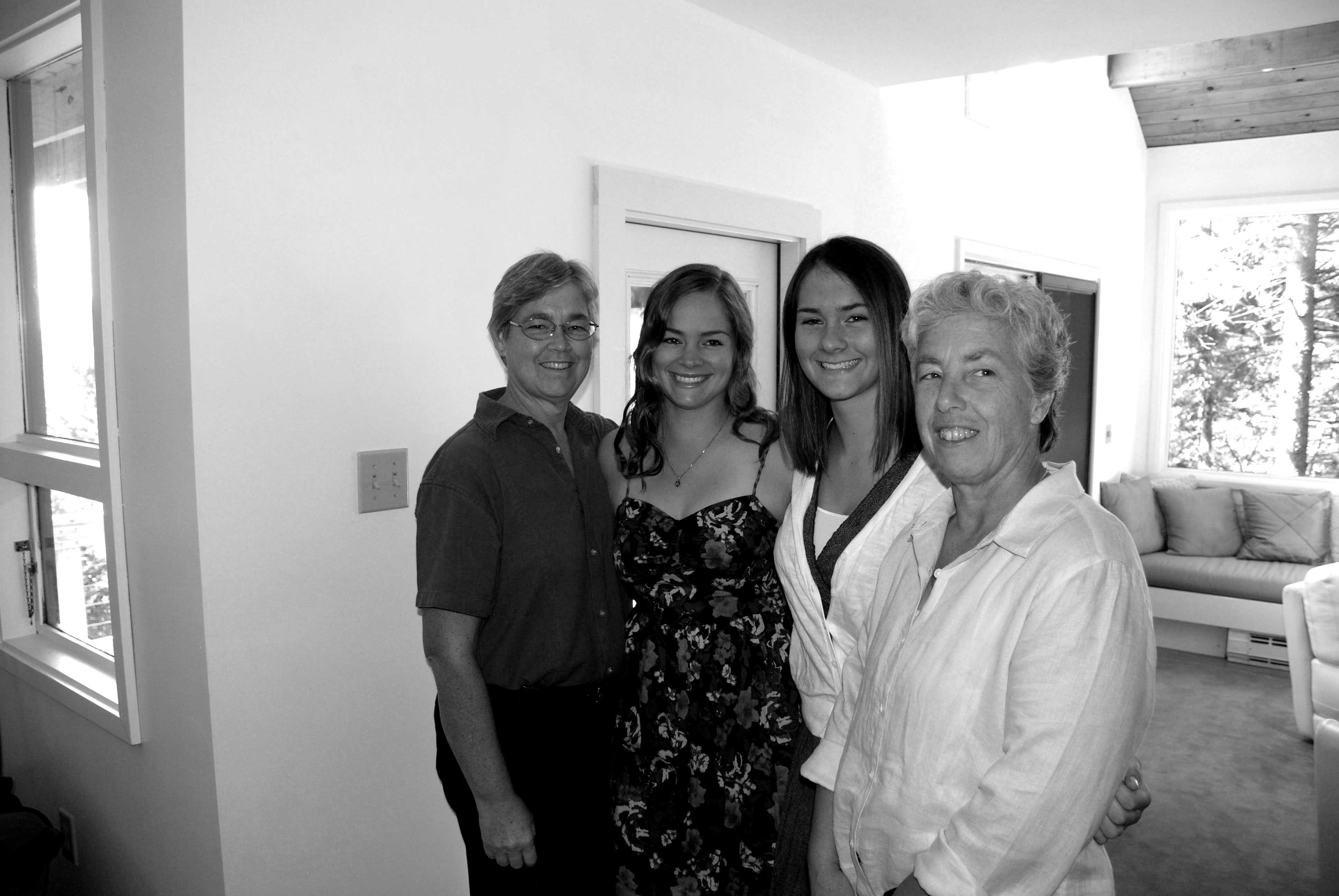 The Hall-Almquist family. From left, Shelle Almquist, Zoe Almquist, Zane Almquist and Lauren Hall.