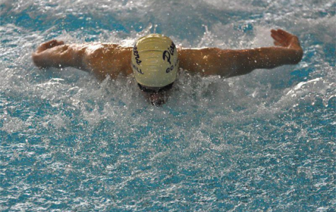 Jesse Rubin competing in a Pioneer Swim Meet