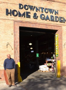 Mark Hodesh stands in front of Downtown Home and Garden