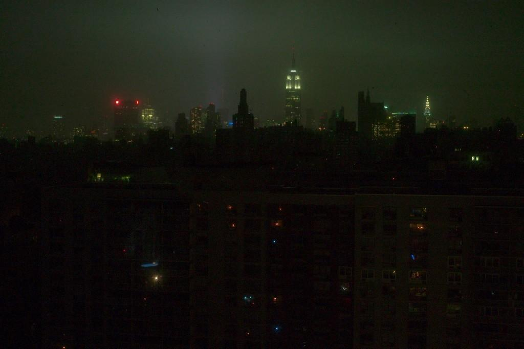 Many buildings in New York City were without power, due to Hurricane Sandy.