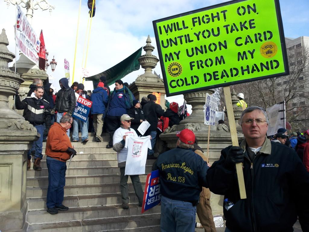 Governor Snyder Ignores Union Protest: Signs RTW