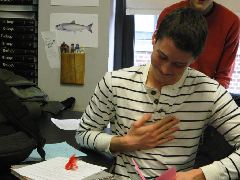 Galen Burrell receives a Singing Valentine on Valentine's Day