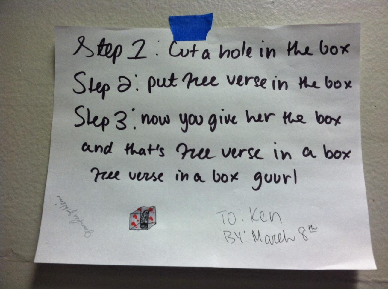 One of many Free Verse posters made by McGraw's Creative Writing Class