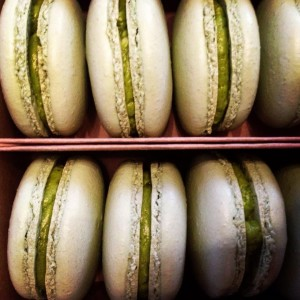 Green teat macarons from French Fortune.
