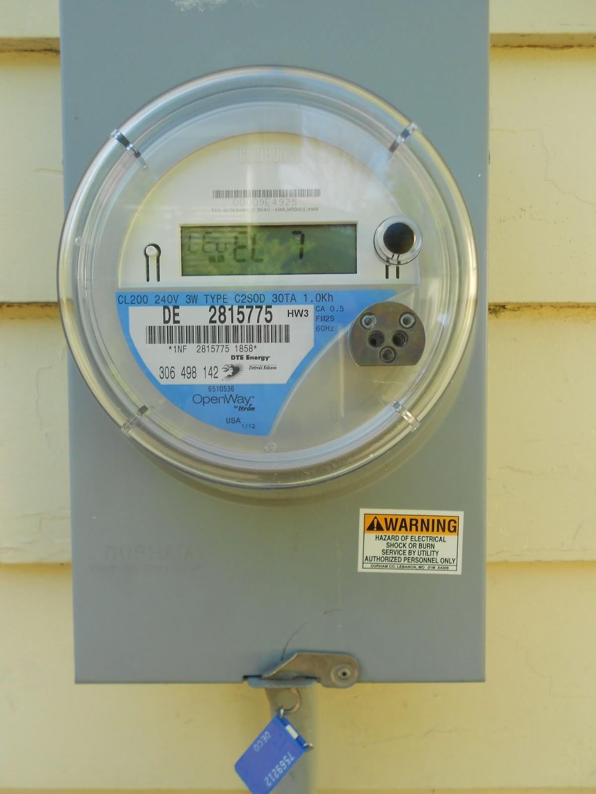 A smart meter on the home of an Ann Arbor resident. Image courtesy of the blog Magnetic Neighborhood.