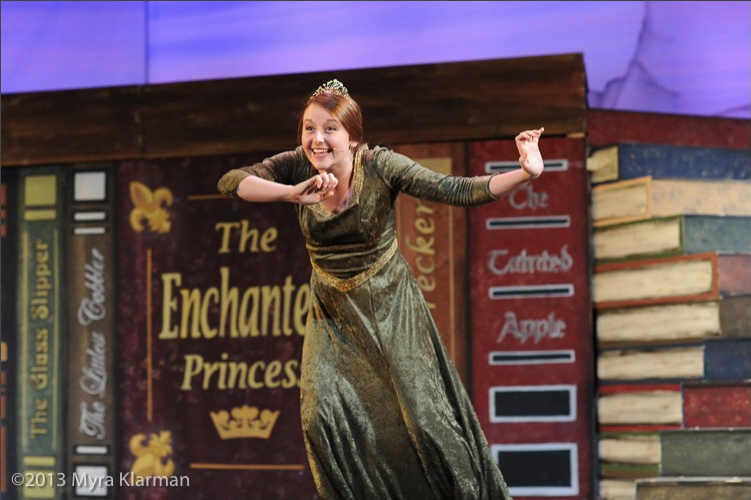 Hesseltine playing Princess Fiona in Pioneer Theatre Guilds spring 2013 production of SHREK THE MUSICAL.