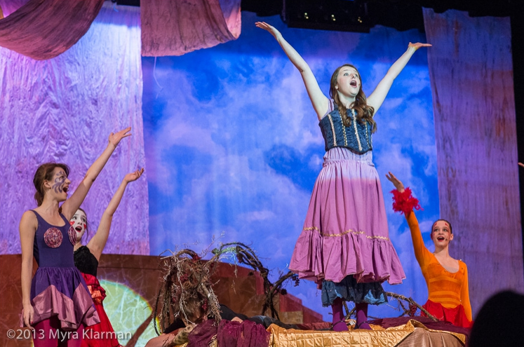 Hesseltine performing in Pioneer Theatre Guilds Fall 2013 production of PIPPIN.