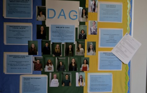 The faces of all the DAG Peer Educators are displayed across from the second floor ledge for anyone who needs them.