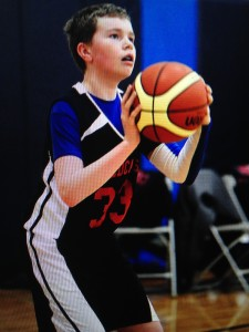 This is a picture of Jack playing AAU