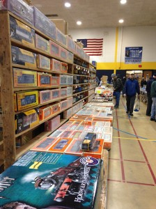 Model train goods at the train show in Saline, Mich.