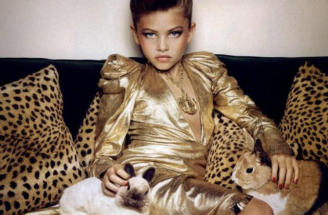 Ten-year old model Thylane Loubry Blondeau in Vogue Paris (2010).