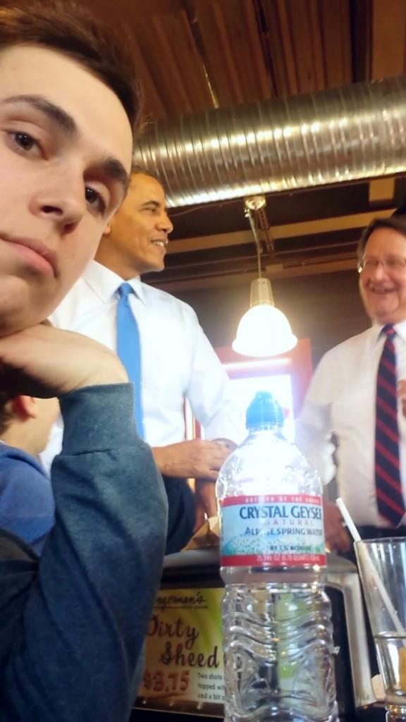 CHS+Senior+Casey+MacDonald+sniped+a+picture+with+President+Obama+and+Rep.+Gary+Peters+as+they+laughed+at+Zingerman%E2%80%99s.