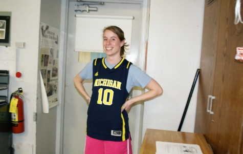 Jenny Imperiale, Courtney's long-term sub, ready for her 3 v 3 basketball game.