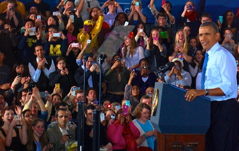 President Obama engaged the University of Michigan, discussing, basketball, Zingerman's, and raising the minimum wage.