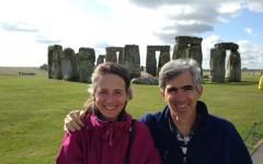 Lisa Nevett (left) and husband David Stone(right)