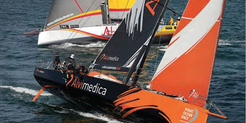 Team Alvimedica during the in-port race in Alicante Spain.