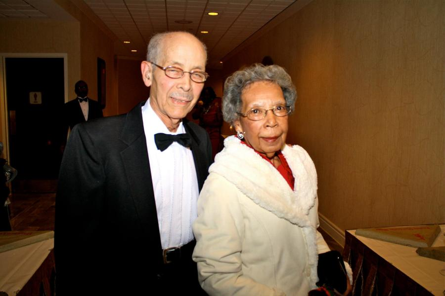 Elginne Johnson with her husband Claude.