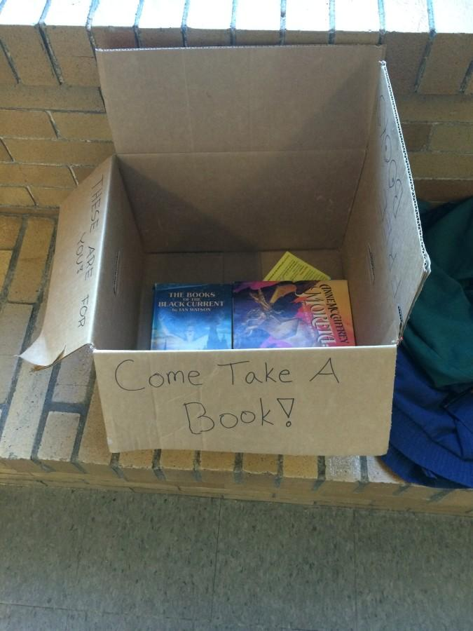 A mysterious box offering free books to students has appeared on the third floor ledge of CHS.