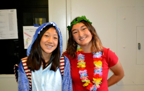 Mira Simonton-Chao and Gina Liu pair up together and go as Lilo and Stitch.