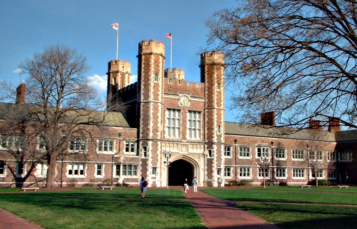 Washington University is known for its academic gothic style of architecture.