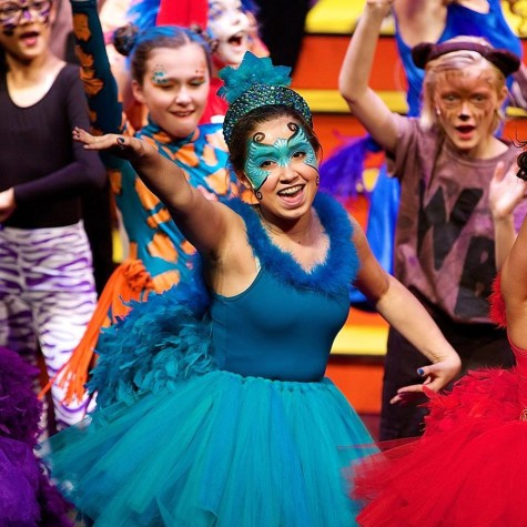Fishman as a Birdgirl in Seussical.