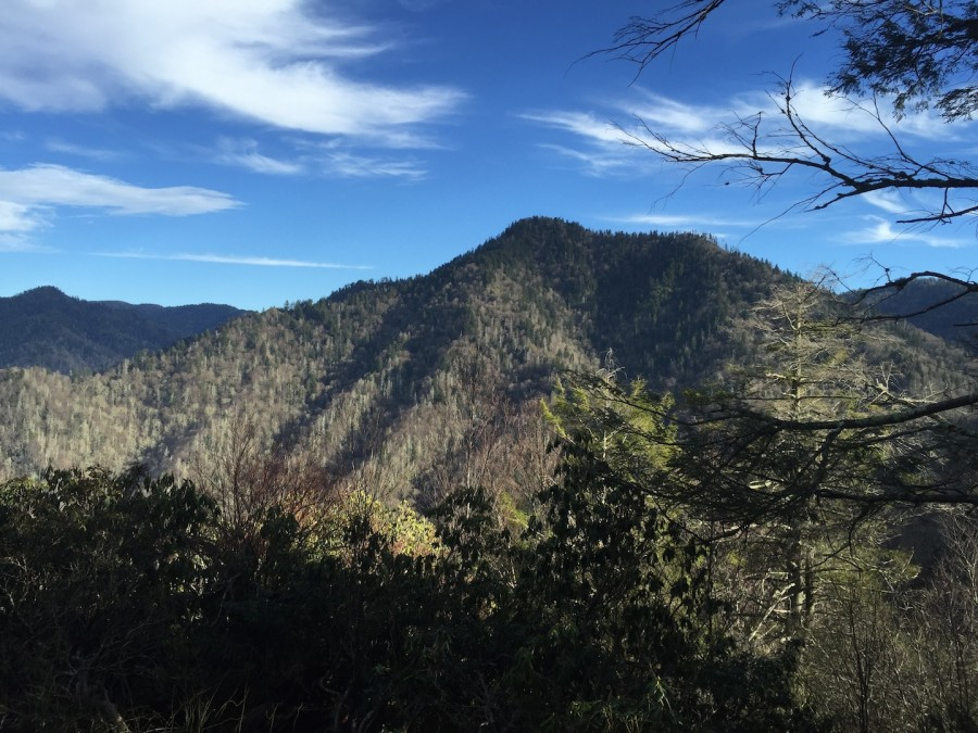 The+view+of+Mount+LeConte+from+the+Chimney+Tops+trail%2C+a+3.8+mile+round+trip+that+climbs+to+nearly+the+same+elevation+in+about+half+the+time.